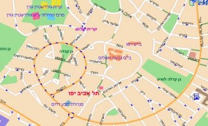 מפת תל אביב